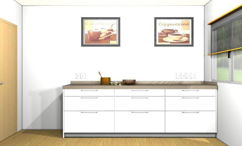 Reforma cocina con muebles dica blanco brillo en sant pere for Muebles vilanova i la geltru