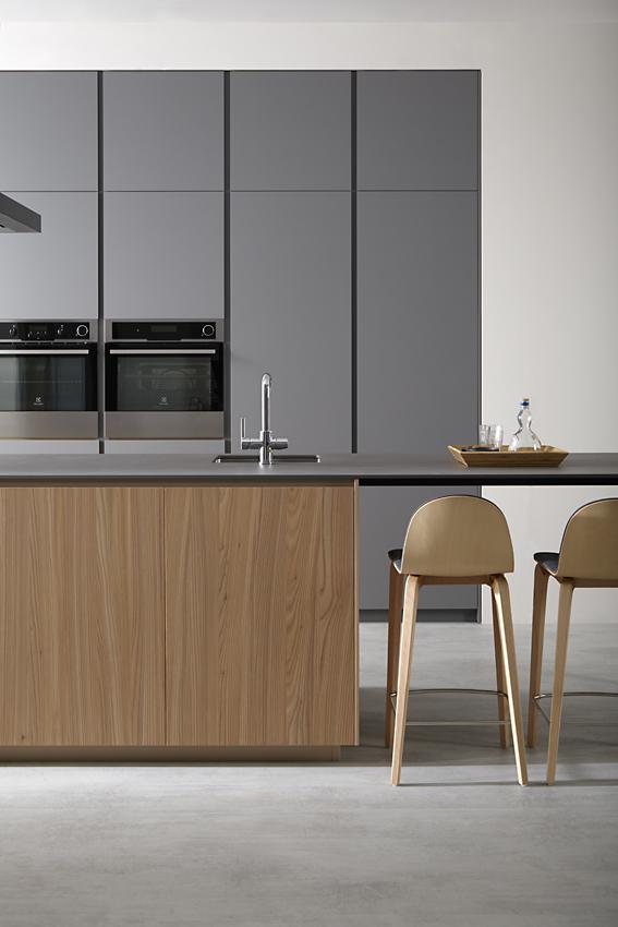 Mueble de cocina dica gris torment olmo natural 008 - Muebles de cocina dica ...