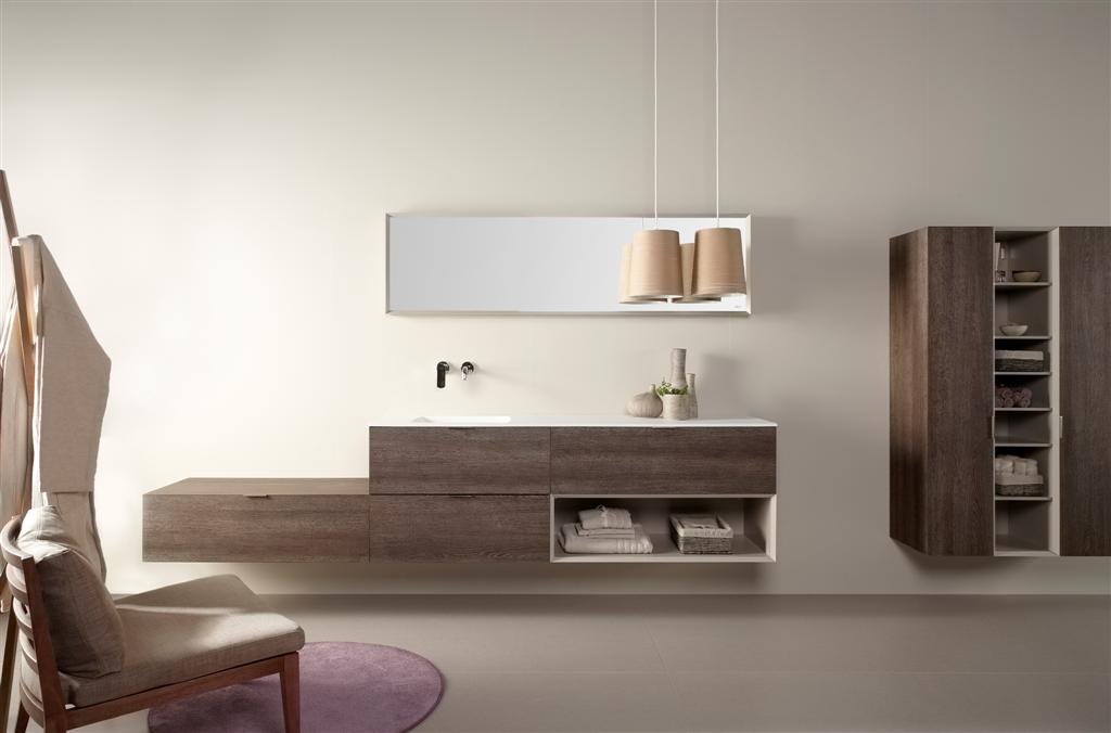 mueble de baño dica lush roble tempo oscurao  Muebles de Cocina