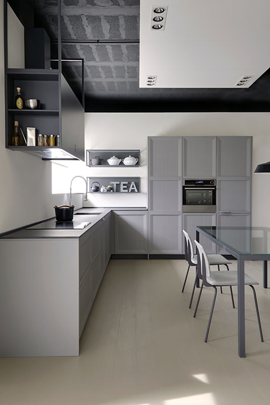 Mueble de cocina Dica Arkadia gris grafito - Novelty Vilanova i la ...