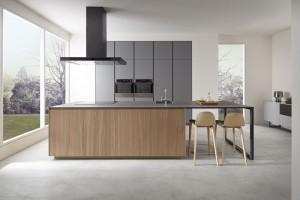 Mueble de cocina Dica Serie 45 - Gris Tormenta Olmo Natural