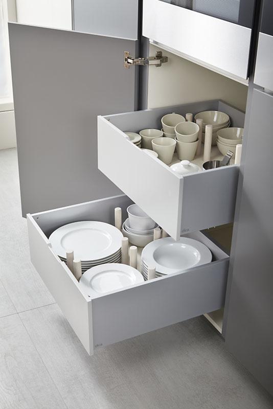 [:es]Muebles de Cocina Gris Tormenta Olmo Natural ...