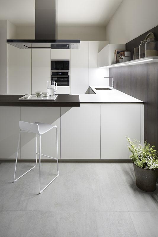 Muebles de Cocina Blanco Fenix & Olmo Tabaco | Novelty Cocinas