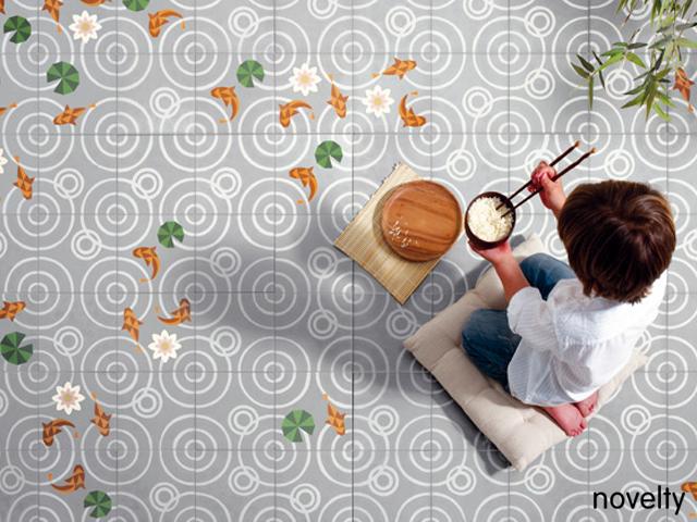 Cocina con baldosas hidráulicas de MUT Design